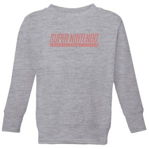 Nintendo Super Nintendo SNES Kid's Sweatshirt - Grey
