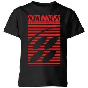 Nintendo Retro Logo Kid's T-Shirt - Black
