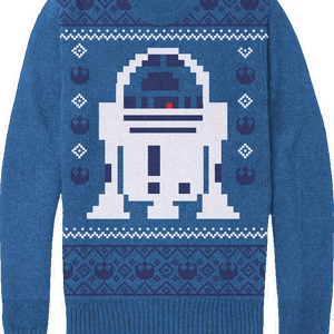 Star Wars Men's Christmas R2-D2 Knitted Jumper - Blue