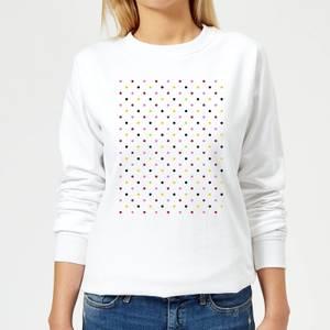 Summit Finish Grand Tour Dots Women's Sweatshirt - White