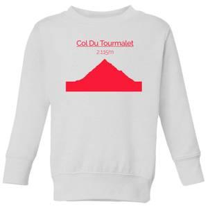 Summit Finish Col du Tourmalet Kids' Sweatshirt - White