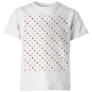 Summit Finish Grand Tour Dots Kids' T-Shirt - White
