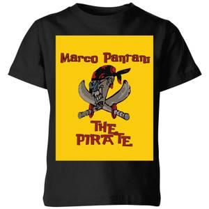 Summit Finish Pantani The Pirate Kids' T-Shirt - Black