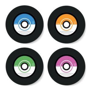 Vinyl Coasters Coaster Set