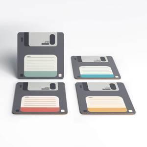 Floppy Disk Coaster Set