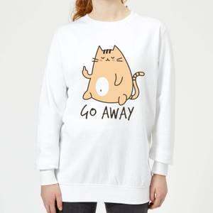 Go Away Women's Sweatshirt - White