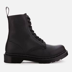 Dr. Martens Women's 1460 Pascal Virginia Leather 8-Eye Boots - Black Mono