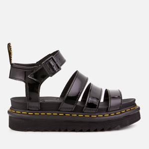Dr. Martens Women's Blaire Patent Lamper Strappy Sandals - Black