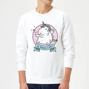 Be Magical & S*** Sweatshirt - White