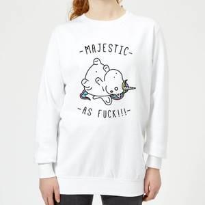 Majestic As F*** Women's Sweatshirt - White