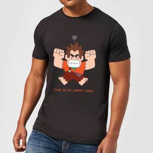 Disney Wreck it Ralph This Is My Happy Face Men's T-Shirt - Black