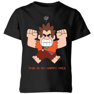 Disney Wreck it Ralph This Is My Happy Face Kids' T-Shirt - Black