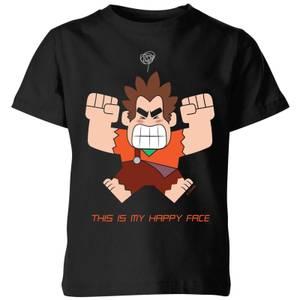Ralph Reichts This Is My Happy Face Kinder T-Shirt - Schwarz