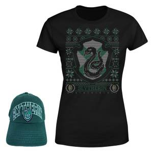 Harry Potter Slytherin T-Shirt and Cap Bundle - Black