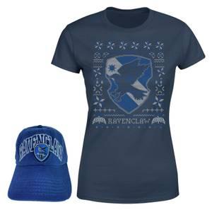 Harry Potter Ravenclaw T-Shirt and Cap Bundle - Navy