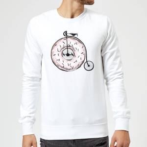 Barlena Donut Ride My Bicycle Sweatshirt - White