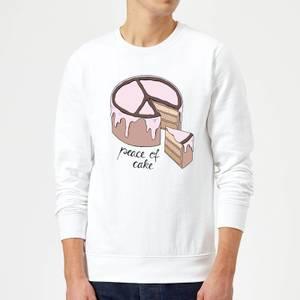 Barlena Peace Of Cake Sweatshirt - White