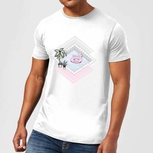 Barlena Flamingos Paradise Men's T-Shirt - White
