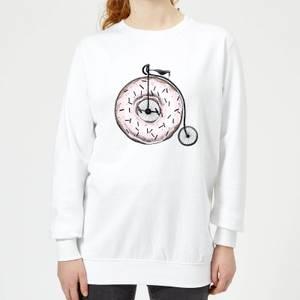 Barlena Donut Ride My Bicycle Women's Sweatshirt - White