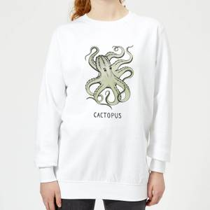 Barlena Cactopus Women's Sweatshirt - White