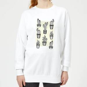 Barlena Prickly Friends Women's Sweatshirt - White