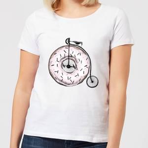 Barlena Donut Ride My Bicycle Women's T-Shirt - White