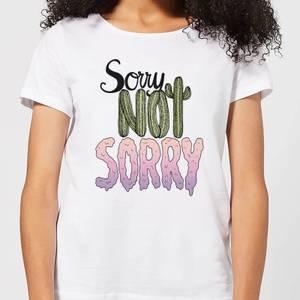 Barlena Sorry Not Sorry Women's T-Shirt - White