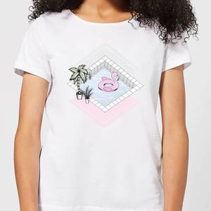 Barlena Flamingos Paradise Women's T-Shirt - White