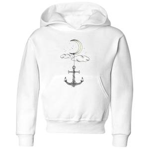 Barlena Anchor Your Dreams Kids' Hoodie - White