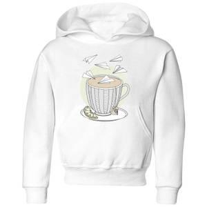 Barlena Teatime Kids' Hoodie - White