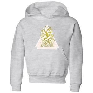Barlena Pineapple Kids' Hoodie - Grey