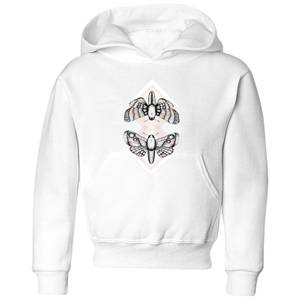 Barlena Moth Kids' Hoodie - White