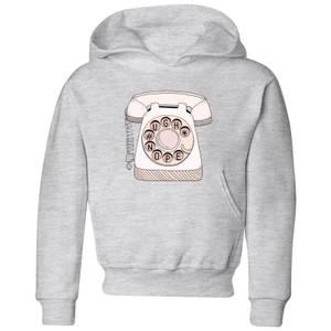Barlena Phone Call Kids' Hoodie - Grey