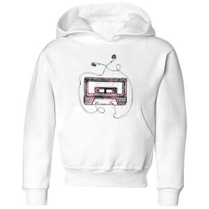 Barlena Mixtape Kids' Hoodie - White