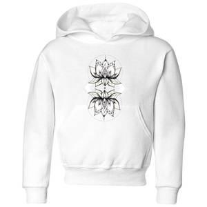 Barlena Lotus Kids' Hoodie - White