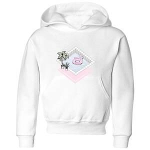 Barlena Flamingos Paradise Kids' Hoodie - White