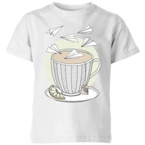 Barlena Teatime Kids' T-Shirt - White