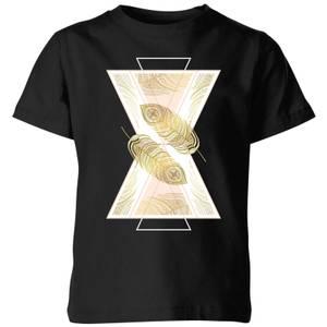 Barlena Feather Kids' T-Shirt - Black