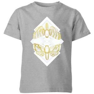 Barlena Moth Kids' T-Shirt - Grey
