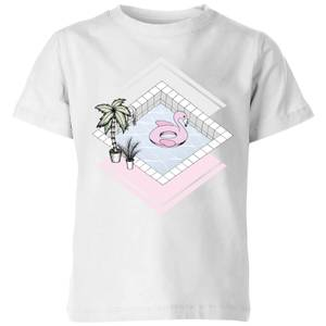 Barlena Flamingos Paradise Kids' T-Shirt - White