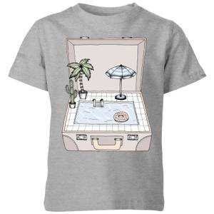 Barlena Pool To Go Kids' T-Shirt - Grey