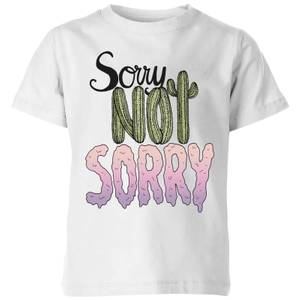 Barlena Sorry Not Sorry Kids' T-Shirt - White