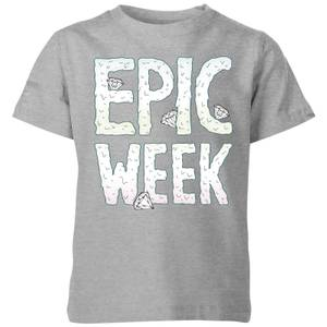 Barlena Epic Week Kids' T-Shirt - Grey