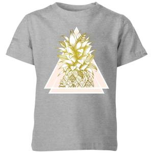 Barlena Pineapple Kids' T-Shirt - Grey