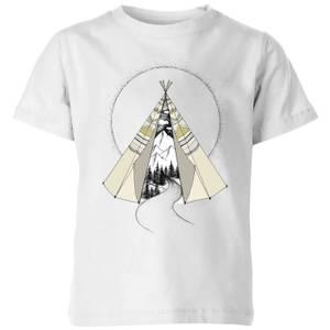 Barlena Into The Wild Kids' T-Shirt - White