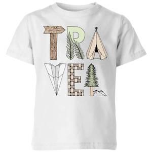 Barlena Travel Kids' T-Shirt - White