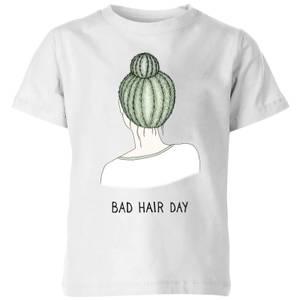 Barlena Bad Hair Day Kids' T-Shirt - White