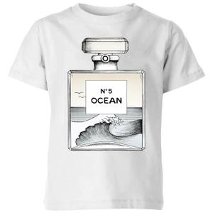 Barlena Ocean No5 Kids' T-Shirt - White