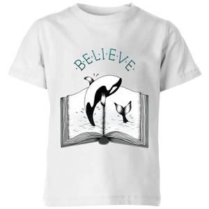 Barlena Believe Kids' T-Shirt - White
