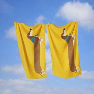 Rapport Long Sausage Dog Towel - Ochre